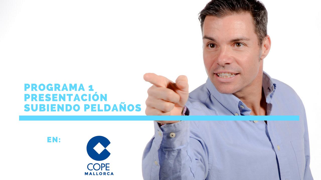 """Presentación """"Subiendo Peldaños"""" en Cope Baleares"""